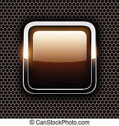 cromo, cornice, metallo, vuoto, icona
