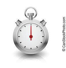 cromo, cronometro, illustration.