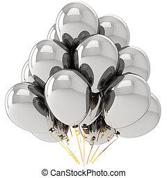 cromo, helio, globos