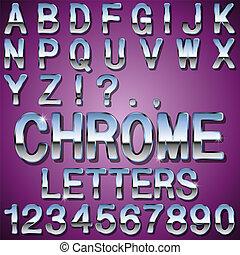 cromo, letras