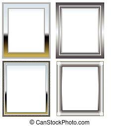 cromo, marcos, plata