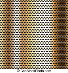 cromo, metallo, seamless, fondo, superficie