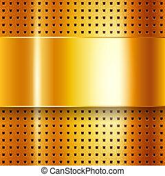 cromo, ouro, arranhado, fundo