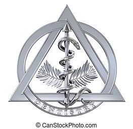 cromo, símbolo, odontologia