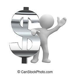 cromo, simbolo, dollaro
