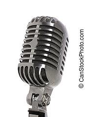 cromo, vendemmia, microfono