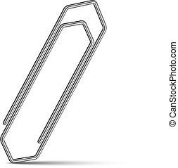 cromo, vetorial, paperclip