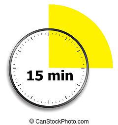 cronómetro, cara de reloj