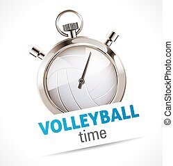 cronómetro, deporte, -, voleibol
