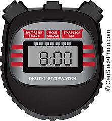 cronómetro, digital
