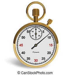 cronómetro, dorado