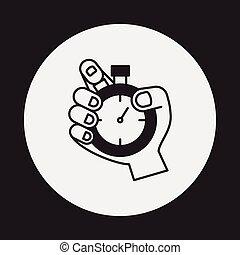 cronómetro, icono
