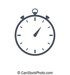 cronómetro, ilustración, icono