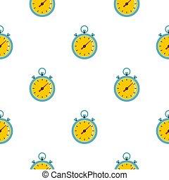 cronómetro, patrón, seamless