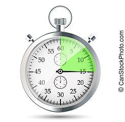 cronómetro, vector, illustraion