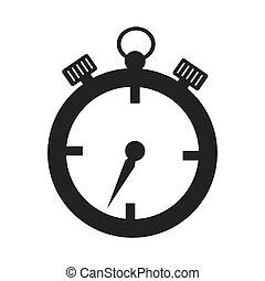 cronômetro, desporto, isolado, tempo
