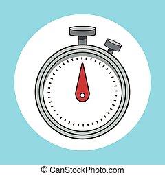 cronômetro, desporto, tempo, ícone