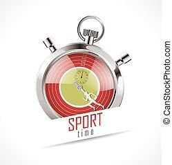 cronômetro, desporto, -, tempo