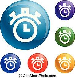 cronômetro, jogo, vetorial, ícones