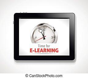 cronômetro, -, tempo, para, e-aprendendo