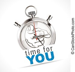 cronômetro, -, tempo, por si