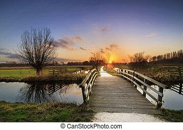 Cronesteyn bridge sunset