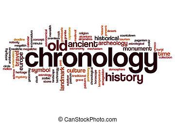 cronología, palabra, nube