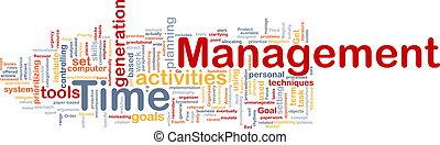 cronometre administração, fundo, conceito