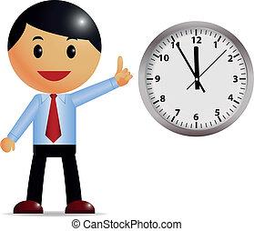 cronometre administração, homem negócios