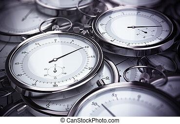 cronometre administração, soluções, e, produtividade