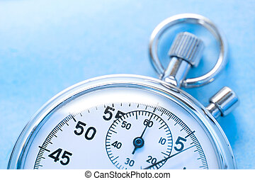 cronometro, blu, isolato