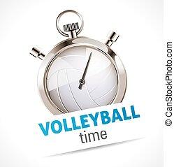 cronometro, sport, -, pallavolo