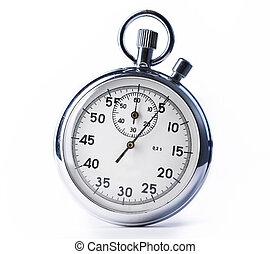 cronometro, su, il, sfondo bianco