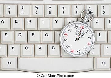 cronometro, su, uno, tastiera