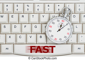 cronometro, testo, digiuno, tastiera