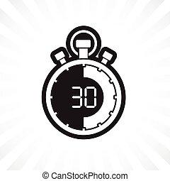 cronometro, trenta, minuto