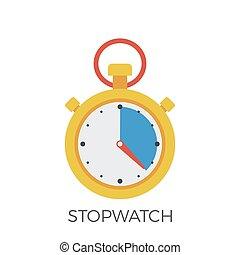 cronometro, vector., icona