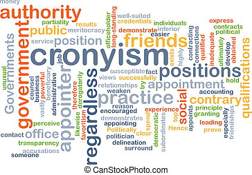 Cronyism background concept