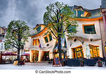 crooked house (krzywy domek), Sopot, Poland