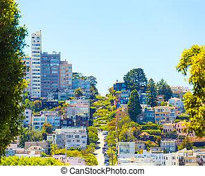 Crooked Lombard Street Telephoto San Francisco