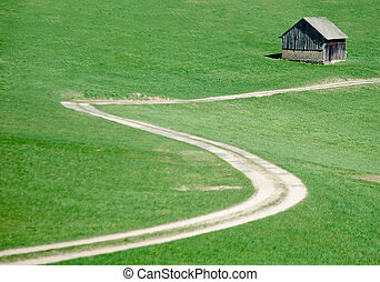 Crooked Road in the Meadow