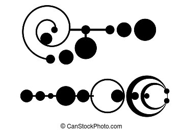 Crop circles - A Tribal crop circle tattoo set