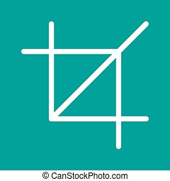 Crop - Frame, picture, crop icon vector image. Can also be...