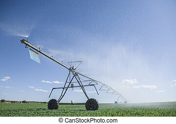 Crop Irrigation center pivot sprinkler system