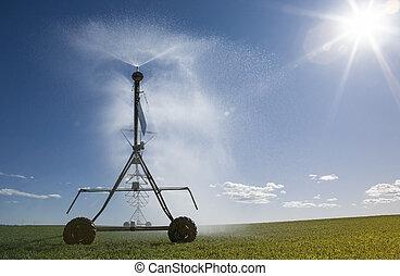 Crop Irrigation center pivot sprinkler system