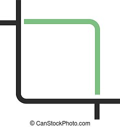 Crop - Picture, crop, video icon vector image. Can also be...