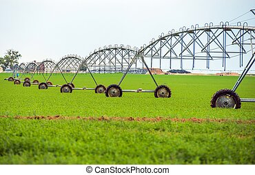 Crop Watering by Sprinklers