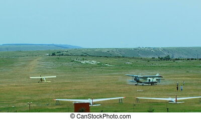 Cropduster Airplane At The Airfield After Landing