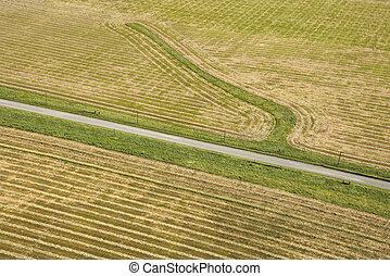 cropland, aerial.