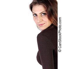 Cropped image of a girl gaze